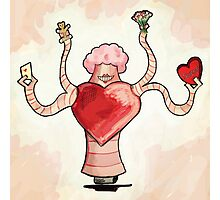 The Valentine Delivery Robot Photographic Print