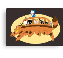 Cat Catbus Canvas Print