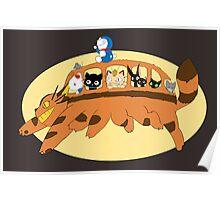 Cat Catbus Poster