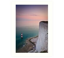 Beachy head lighthouse sunset Art Print