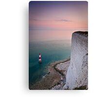 Beachy head lighthouse sunset Canvas Print