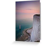 Beachy head lighthouse sunset Greeting Card