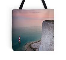 Beachy head lighthouse sunset Tote Bag
