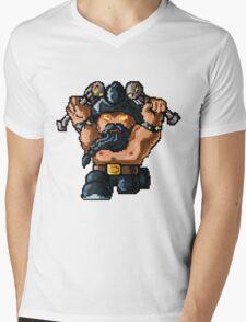 Pixel Pentakill Olaf Mens V-Neck T-Shirt