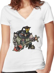 Pixel Pentakill Yorick Women's Fitted V-Neck T-Shirt