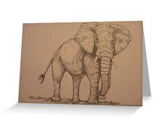 Africana Elephanta, Loxodanta Africana  Greeting Card