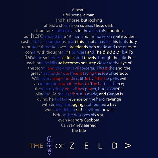 The Legend of Zelda Shield Poem by alphabean11