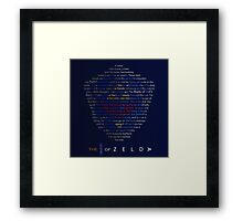 The Legend of Zelda Shield Poem Framed Print