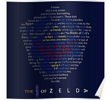 The Legend of Zelda Shield Poem Poster