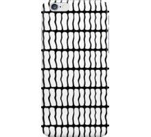 Modern Black and White Hand Drawn Pattern iPhone Case/Skin
