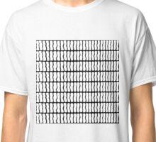 Modern Black and White Hand Drawn Pattern Classic T-Shirt