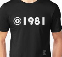 Year of Birth ©1981 - Dark variant (1) Unisex T-Shirt