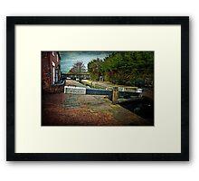 Blockhouse Lock, Worcester UK Framed Print