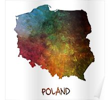 Map of Poland colored Poster