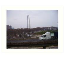 St. Louis By Truck Art Print