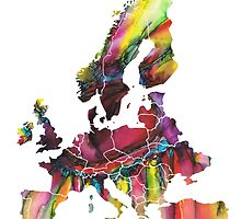 Europe Map eye by JBJart