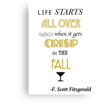 Life Starts All Over (THE CLASSICS COLLECTION) Canvas Print