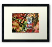 Buddha in Autumn Framed Print