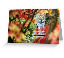 Buddha in Autumn Greeting Card