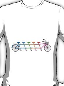 colorful tandem bicycle, team bike T-Shirt