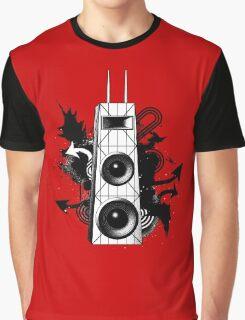 Hancock Building Speakers Graphic T-Shirt