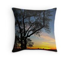 Enter the Night Throw Pillow