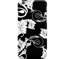 Black and White Damask Iphone and Ipod Cases iPhone Case/Skin