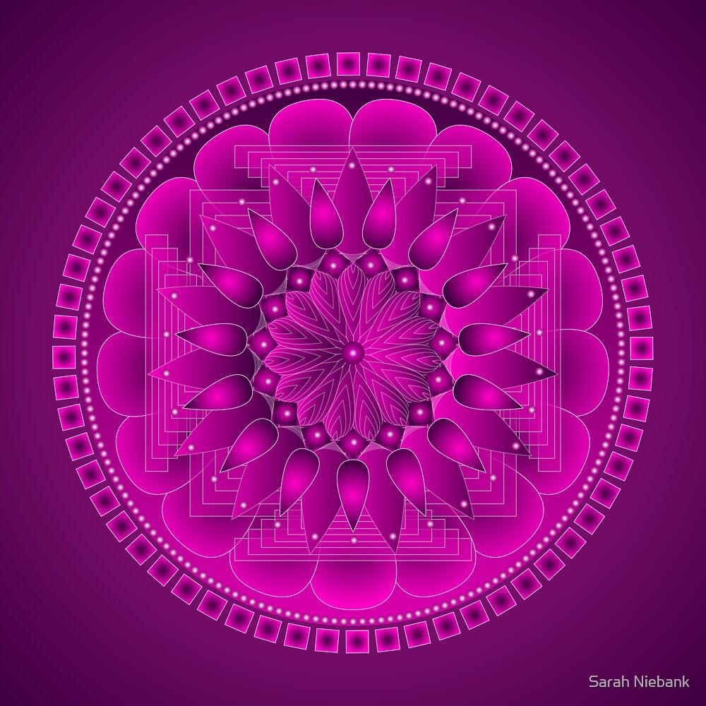Chakra Mandala Magenta by Sarah Niebank