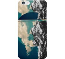 Mountains glitch iPhone Case/Skin