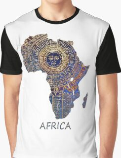 Africa map ancient Graphic T-Shirt