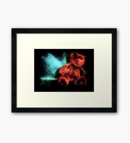 Electric Bear Framed Print