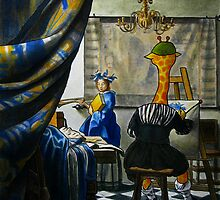 Art Giraffe- Allegory of Painting by Sundayink