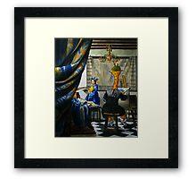 Art Giraffe- Allegory of Painting Framed Print