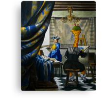 Art Giraffe- Allegory of Painting Canvas Print
