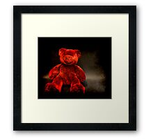 Red Teddy Framed Print