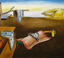 Art Giraffe- The Persistence of Memory by Sundayink