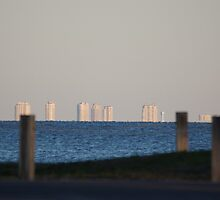 Buildings on the water by Scott Dovey