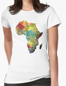 Africa map 3 Womens Fitted T-Shirt