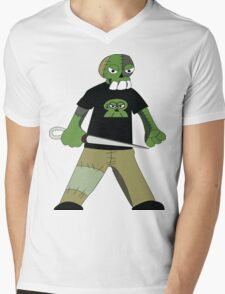 Zombie 001: Patch the leader Mens V-Neck T-Shirt