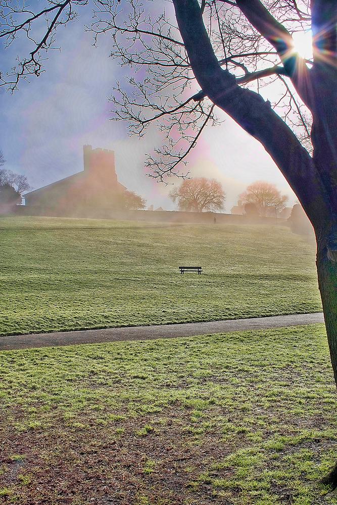 St Margarets In The Fog by Dave Godden