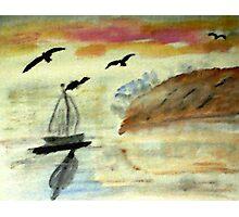 Early morning sail, watercolor Photographic Print