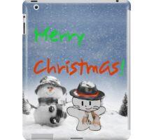 Cat Copys his Snow Man Friend iPad Case/Skin