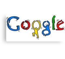 Keith Haring Google Canvas Print