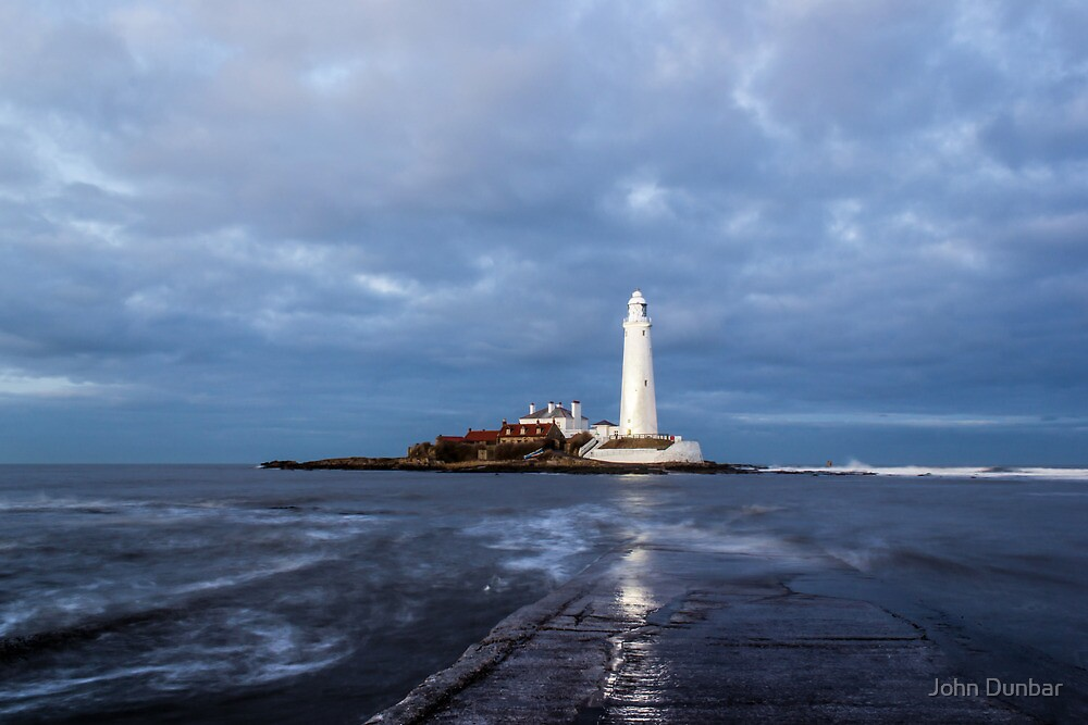 Dusk at St Mary's Lighthouse II by John Dunbar