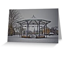 Stratford Upon Avon in the Snow (4) Greeting Card