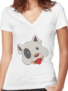 Funny bulli Women's Fitted V-Neck T-Shirt