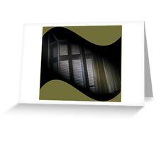 diagonally stuck lens cap Greeting Card