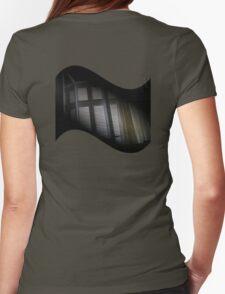 diagonally stuck lens cap Womens Fitted T-Shirt