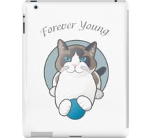 Forever Young Playful Snowshoe Cat iPad Case/Skin