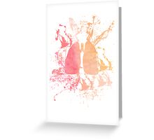 Paint Splattered Lungs Greeting Card